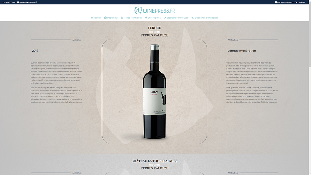 Présenter ses vins 01